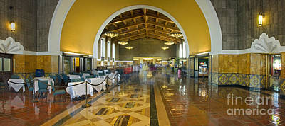 Photograph - Hussel And Bussel At The Union Train Station Los Angeles Ca by David Zanzinger