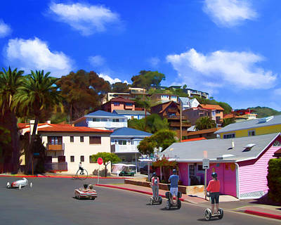 People Painting - Hustle And Bustle In Avalon by Snake Jagger