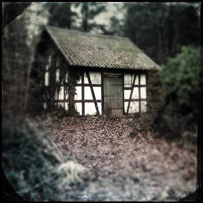 Forest Photograph - Hut In The Forest - Nature Park Schoenbuch Germany by Matthias Hauser