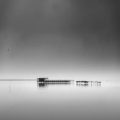 Pier Wall Art - Photograph - Hut In The Mist by George Digalakis