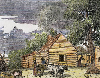 Hut Virginia, 1848 United States Art Print by Prisma Archivo