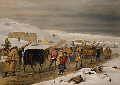 Winter Roads Drawing - Huts And Warm Clothing For The Army by William 'Crimea' Simpson