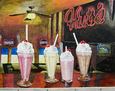 Painting - Hut's Milkshake Heaven by Manny Chapa