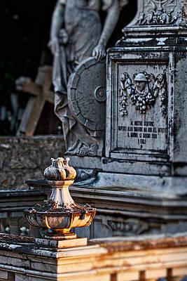 Photograph - Hvar Cemetery Statuary - Croatia by Stuart Litoff