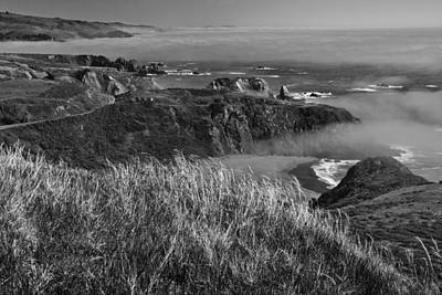 Photograph - Hwy 101 Black And White by Wes and Dotty Weber