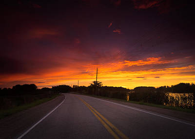Hwy 20 Sunset Art Print by Cale Best