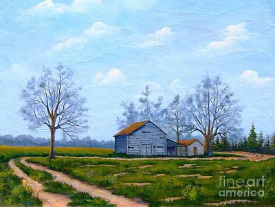 Painting - Hwy 302 Farm by Jerry Walker