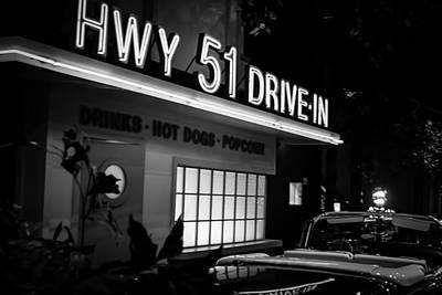 Hwy 51 Drive-in Art Print