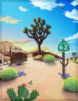 Advertisment Painting - Hwy 62 Cover Art by Snake Jagger