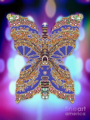 Blue Healer Digital Art - Hyacinth Hazelwhisk by Raymel Garcia