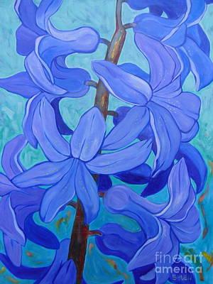 Painting - Hyacinths by Sandra Yuen MacKay
