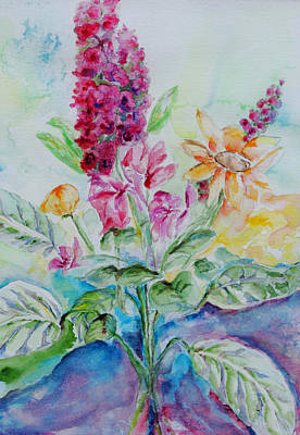 Painting - Hyacinths  Watercolor by Bobbin