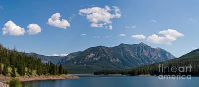 Photograph - Hyalite Reservoir -- South View by Charles Kozierok