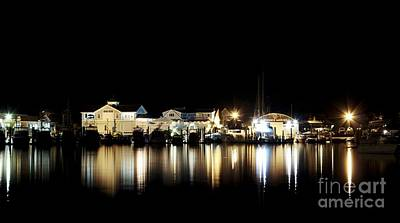 Photograph - Hyannis At Night by Karin Pinkham
