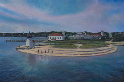 Painting - Brant Point Beach, Nantucket, Ma by David P Zippi