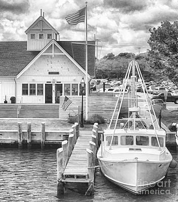 Hyannis The Coastguard's Cutter Art Print by Jack Torcello