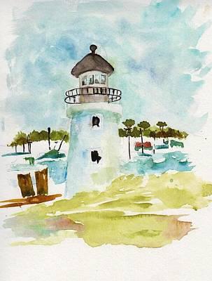 Hyannisport Lighthouse Art Print by Sandi Stonebraker