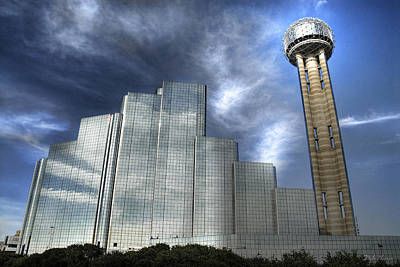 Photograph - Hyatt Regency And Reunion Tower by Dyle   Warren