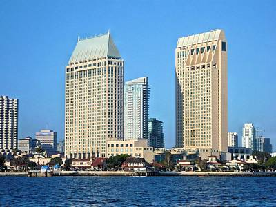 Photograph - Hyatt Towers San Diego by Jane Girardot