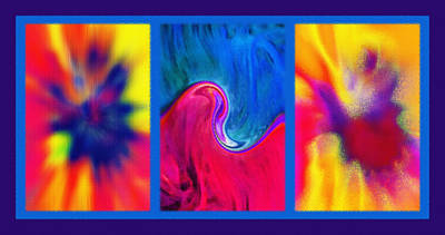 Hychilu Abstracts Triptych Art Print