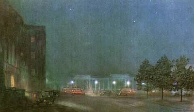 Hyde Park Drawing - Hyde Park Corner By Night        Date by Mary Evans Picture Library