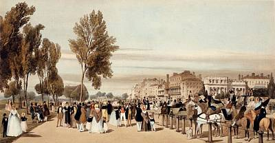 Hyde Park, Towards The Grosvenor Gate Art Print