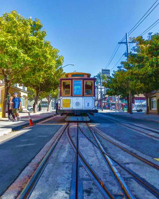 Photograph - Hyde Street Trolley by Scott Campbell