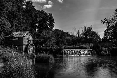 Photograph - Hyde's Mill Monochrome by Randy Scherkenbach