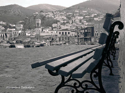 Hydra Island Photograph - Hydra Black And White by Alexandros Daskalakis