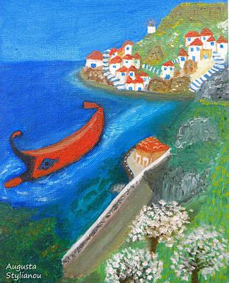 Hydra Island Painting - Hydra Island by Augusta Stylianou