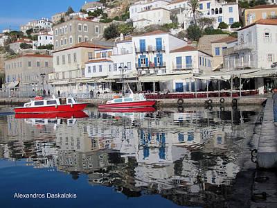Hydra Island Photograph - Hydra Port by Alexandros Daskalakis