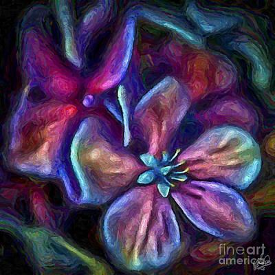 Painting - Hydrangea 1051 by Walt Foegelle