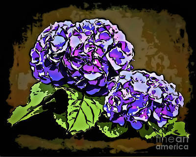 Digital Art - Hydrangea 1241 by Walt Foegelle