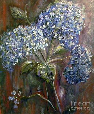 Sun Drawing - Hydrangea Bouquet At Dawn by Eloise Schneider