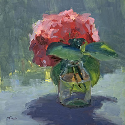 Painting - Hydrangea Clipping by Timon Sloane