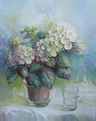 Hydrangea Art Print by Elena Oleniuc
