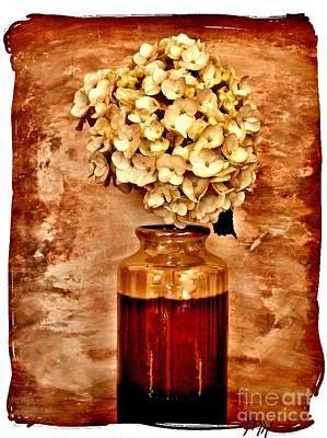 Antique Look Photograph - Hydrangea In A Vase by Marsha Heiken