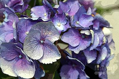 Art Print featuring the photograph Hydrangea by Rosemary Aubut