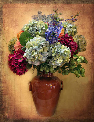 Planter Wall Art - Photograph - Hydrangea Still Life by Jessica Jenney