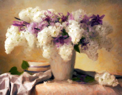 Painting - Hydrangea Summer Display by Georgiana Romanovna