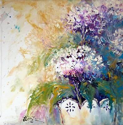 Painting - Hydrangeas by Christa Friedl