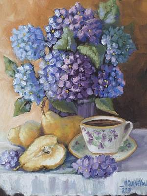Hydrangeas From A Friend Original by Mikki Carnevale