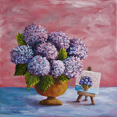Painting - Hydrangeas From My Garden by Darice Machel McGuire