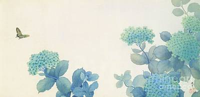 Tonal Painting - Hydrangeas by Pg Reproductions