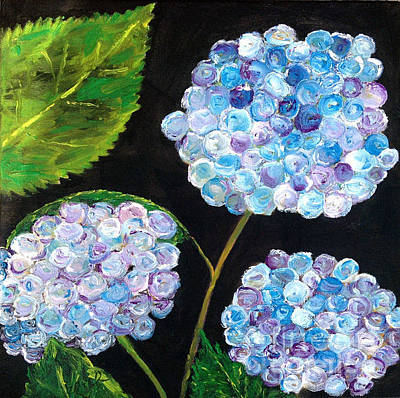 Painting - Hydrangeas  by Reina Resto