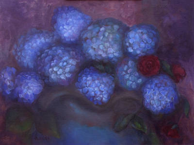 Painting - Hydrangeas by Susan Hanlon