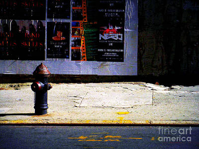 Photograph - Fire Hydrant And Poster - New York City Street Scene by Miriam Danar