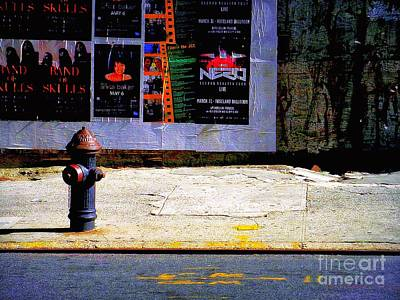 Photograph - Hydrant - Blue by Miriam Danar