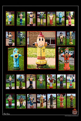 Hydrants Art Print by Mitchell Brown