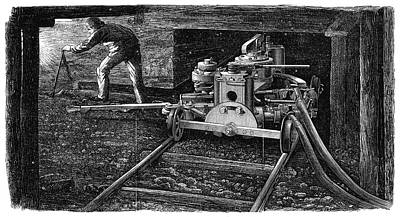 1867 Photograph - Hydraulic Coal Cutting Machine by Universal History Archive/uig